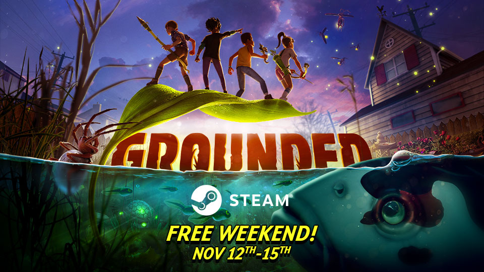 Grounded Free Steam Weekend Header Image